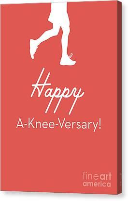New Knee Card- Art By Linda Woods Canvas Print by Linda Woods