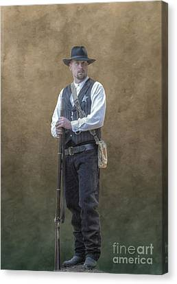 New Marshal In Town  Canvas Print by Randy Steele