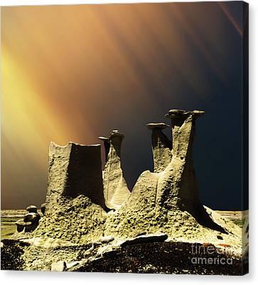 Sli Canvas Print - Ah-shi-sle-pah Rock Formation New Mexico  by Bob Christopher