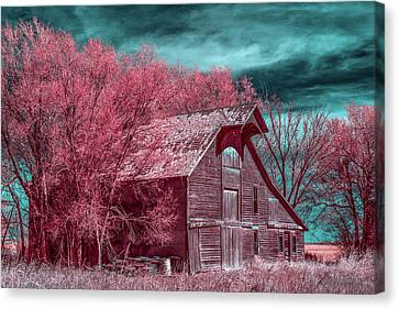 New Mexico Barn Infrared Canvas Print by Paul Freidlund