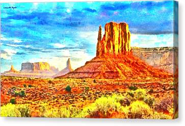 Bryce Canvas Print - New Mexico Beautiful Desert - Da by Leonardo Digenio