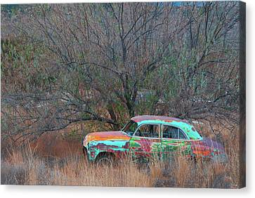 Canvas Print featuring the photograph New Mexico Blue by Carolyn Dalessandro