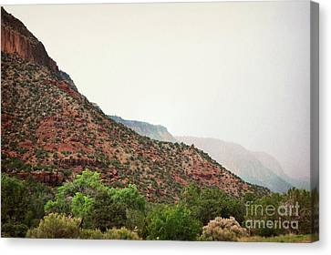 New Mexico Desert Jemez Mountains Landscape Canvas Print by Andrea Hazel Ihlefeld