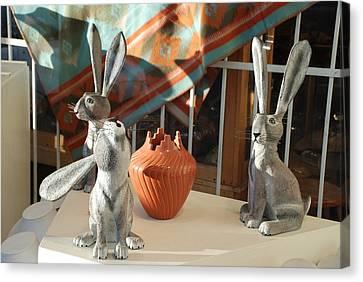 New Mexico Rabbits Canvas Print by Rob Hans