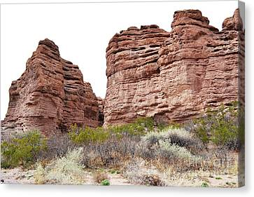 Canvas Print featuring the photograph New Mexico Red Rock Mountain Canyon by Andrea Hazel Ihlefeld