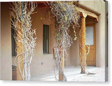 Canvas Print featuring the photograph New Mexico Rustic Country Porch by Andrea Hazel Ihlefeld