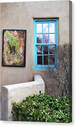 Canvas Print featuring the photograph New Mexico Turquoise Window Landscape by Andrea Hazel Ihlefeld