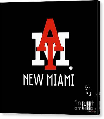 New Miami Red Canvas Print by HI Level