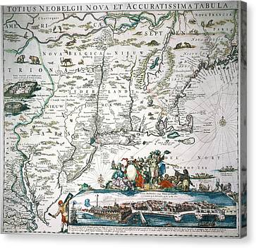 New Netherland Map Canvas Print by Granger