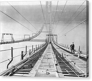New New York Bridge Canvas Print by Archive Photos