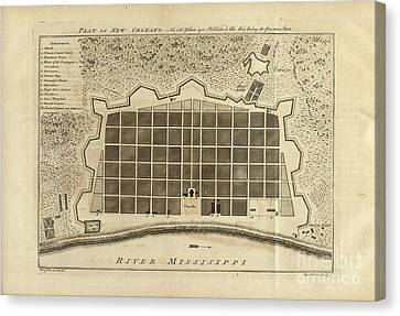 New Orleans 1770 Canvas Print by Baltzgar