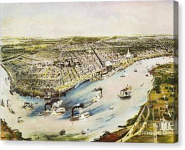 New Orleans, 1851 Canvas Print by Granger