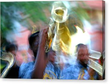 New Orleans Abstract Street Jazz Performance Canvas Print