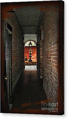 New Orleans Alley Canvas Print
