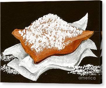 New Orleans Beignet Canvas Print by Elaine Hodges