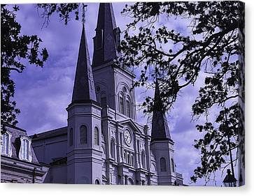 St.louis Cathedral Canvas Print - New Orleans Cathedral by Garry Gay