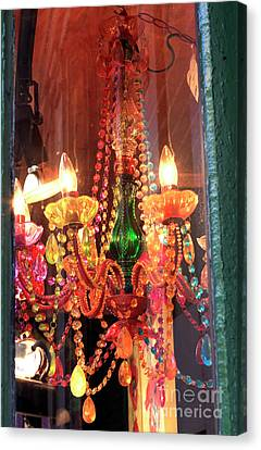 Nola Canvas Print - New Orleans Chandelier by John Rizzuto