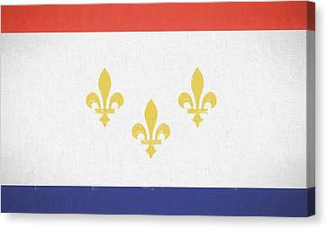 Canvas Print featuring the digital art New Orleans City Flag by JC Findley