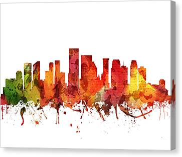 New Orleans Cityscape 04 Canvas Print by Aged Pixel