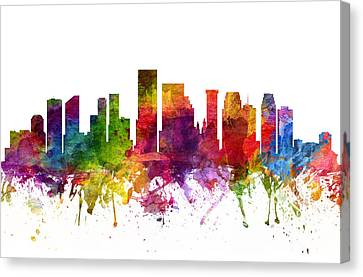 New Orleans Cityscape 06 Canvas Print by Aged Pixel