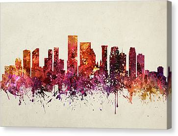 New Orleans Cityscape 09 Canvas Print by Aged Pixel