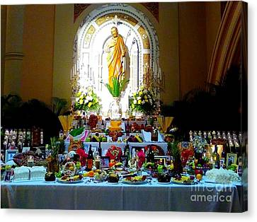 New Orleans Feast Day Of St. Joseph Alter Canvas Print by Michael Hoard