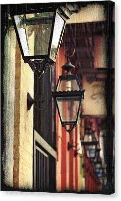 New Orleans Gas Lamps Canvas Print by Jarrod Erbe