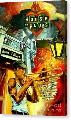 New Orleans' House Of Blues Canvas Print by Diane Millsap