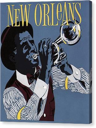 New Orleans Jazz C. 1955 Canvas Print by Daniel Hagerman