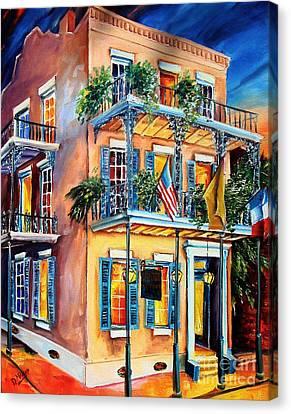 New Orleans' La Fitte's Guest House Canvas Print by Diane Millsap