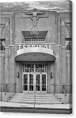 New Orleans Lakefront Airport Bw Canvas Print by Steve Harrington