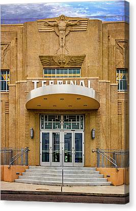 New Orleans Lakefront Airport - Overlay Canvas Print by Steve Harrington