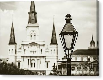 New Orleans Landmark - Sepia Canvas Print