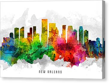 New Orleans Louisiana Cityscape 12 Canvas Print