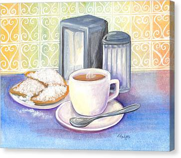 New Orleans Morning Canvas Print by Elaine Hodges