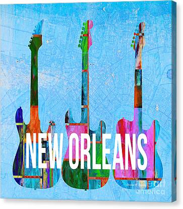 New Orleans Music Scene Canvas Print
