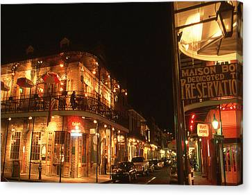 New Orleans Jazz Night Canvas Print by Art America Gallery Peter Potter