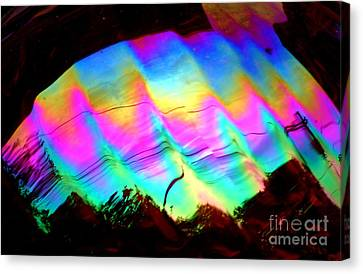 New Orleans Northern Lights  Abstract Aurora Canvas Print by Michael Hoard