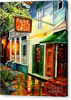 Bars Canvas Print - New Orleans Port Of Call by Diane Millsap