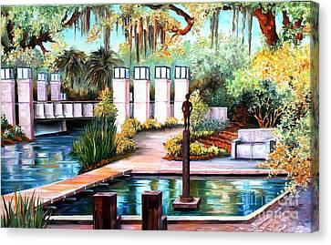 New Orleans Sculpture Garden Canvas Print by Diane Millsap