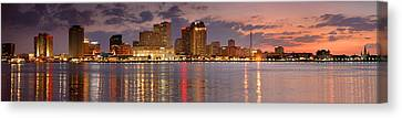 New Orleans Skyline At Dusk Canvas Print by Jon Holiday