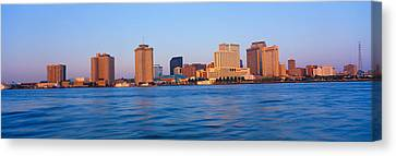 New Orleans Skyline From Algiers Point Canvas Print by Panoramic Images