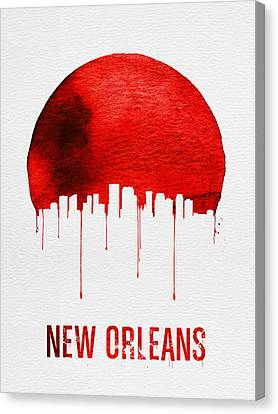 New Orleans Skyline Red Canvas Print by Naxart Studio