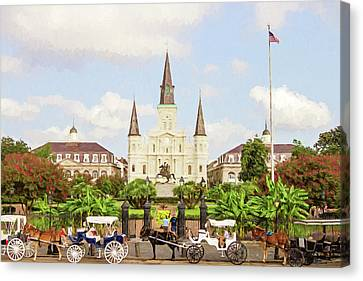 Canvas Print - New Orleans St. Louis Cathedral by Scott Pellegrin