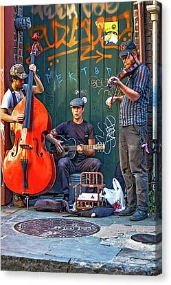 New Orleans Street Musicians Canvas Print
