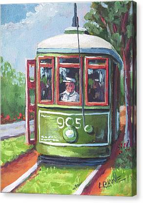New Orleans Streetcar Garden District Canvas Print by CB Hume