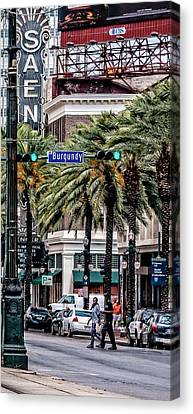 Saenger Canvas Print - New Orleans Streetcars Triptych 1 by Andy Crawford