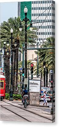 New Orleans Streetcars Triptych 2 Canvas Print by Andy Crawford