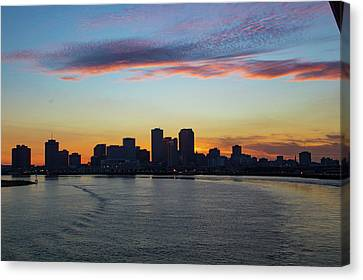 New Orleans Sunset Canvas Print