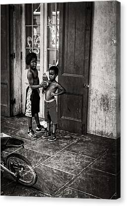 Chrystal Canvas Print - New Orleans Tap Dancers In Black And White by Chrystal Mimbs